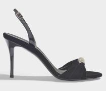 Sandalen Alien 90 aus schwarzem Samt