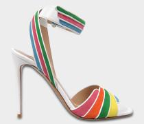 Rainbow Sandalen mit Fesselriemen aus Wildleder und Nappaleder