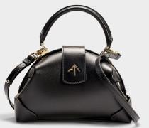 Handtasche Demi aus pflanzlichem Kalbsleder in Schwarz
