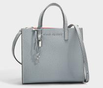 Handtasche The Mini Grind aus grauem Kalbsleder