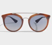 0PR 23SS Sonnenbrille aus braunem Acetat