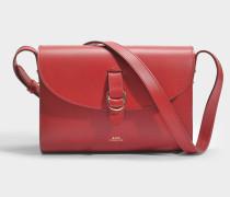 Alicia Tasche aus rotem glänzend Kalbsleder