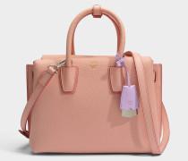 Milla Small Tote Bag aus blush rosanem Park Avenue Leder