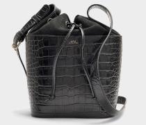 Handtasche Clara aus schwarzem Kalbsleder