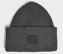Mütze Pansy N Face aus grauer Wolle