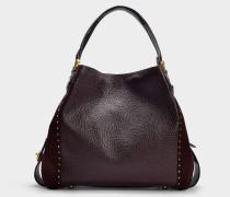 Handtasche Edie 42 aus Bordeauxrotem Kalbsleder