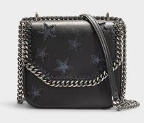 Handtasche Falabella Box Stars Pailletten Medium aus schwarzem Synthetikmaterial