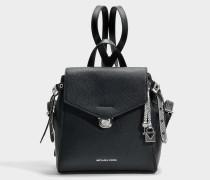Bristol small Backpack aus schwarzem Pebble Leder