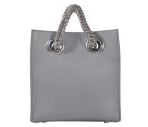 Genesis Shopper Tasche aus Washed Denim Kalbsleder