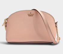 Handtasche Hilli Cameron Street aus rosa Kalbsleder