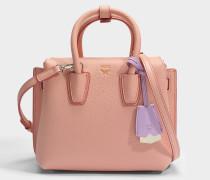 Milla Mini Tote Bag aus blush rosanem Park Avenue Leder