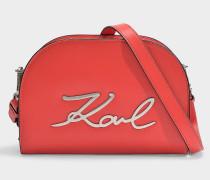 K/Signature Big Crossbody Bag in Red Calfskin
