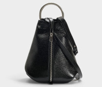 Rucksack Vertical Zip aus schwarzem Kalbsleder