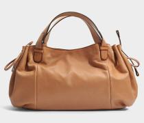 24 GD Tasche aus karamelfarbenem Leder