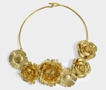 Selena Halskette mit Flowers aus 18K vergoldetem Messing