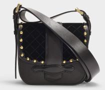 Gemma Velvet medium Crossbody Bag aus schwarzem Samt