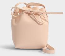 Bucket Bag Mini Mini aus rosa Kalbsleder