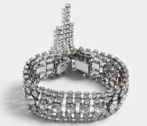 Crystals Cascade Open Bracelet aus Ruthenium und Kristallen