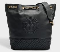 Bucket Bag Fleming aus schwarzem Lammleder