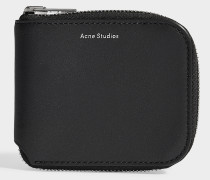 Kei S Wallet in Black Calfskin