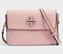 Mcgraw Crossbody Tasche aus rosanem Quartz Kalbsleder