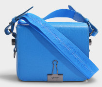 Handtasche Flap aus blauem Kalbsleder