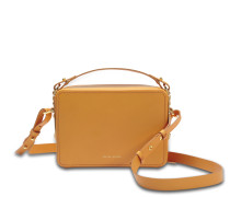 Mini Trunk Tasche aus butterfarbenem Kuhleder