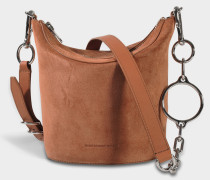 Ace Crossbody Tasche in Terracotta aus Kalbsleder