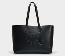Smiley Ebury Shopper Tasche aus schwarzem Circus Leder
