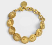 Logo Armband aus goldfarbenem Metall