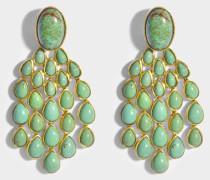 Cherokee türkisem Ohrringe aus 18K vergoldetem Messing