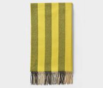 Schal Color Block Half Mega Check aus gelbem Kaschmir
