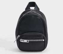 Mini Rucksack Xbody Attica Soft aus schwarzem Lammleder