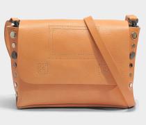 Readymade Clutch Tasche aus Tan Kuhleder