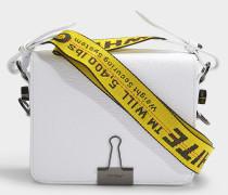 Handtasche Flap aus weißem Kalbsleder