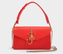 Logo Purse Tasche aus Scarlet Kalbsleder