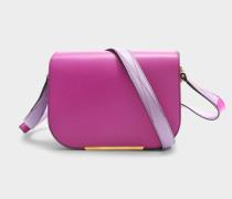 Bianca Saddle Tasche S aus Cyclamen und lila glattem Leder