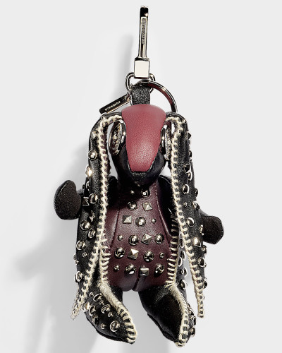Studded hare Schlüsselanhänger aus buntem Kaschmir