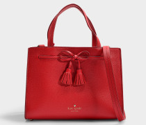 Hayes Street Sam Tote in Royal Red Pebble Leather