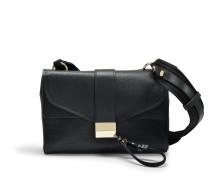 Kanye Shoulder Bag aus schwarzem Ziegenleder