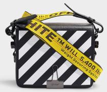 Handtasche Diag Flap aus schwarzem Kalbsleder