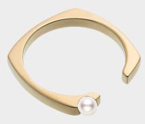 Ring in 9K Gelbgold mit Perlen