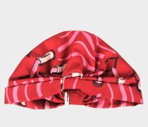 Lipstick Headband aus dunkelroter Seide