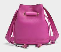 Le Huit S Bucket Tasche in Cyclamenfarben aus Leder
