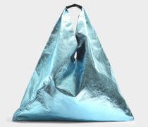 Japanese Large Tasche aus hellblauem laminiertem Synthetik Leder