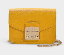 Handtasche Metropolis Mini aus gelbem Kalbsleder