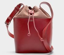 Handtasche Clara aus rotem Kalbsleder