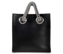 Genesis Shopper Tasche aus schwarzem Kalbsleder