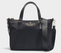 Watson Lane Lucie Crossbody Tote in Black Nylon