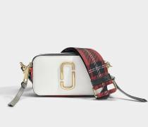 Handtasche Snapshot aus Kalbsleder mit Polyurethan Beschichtung in Weiß